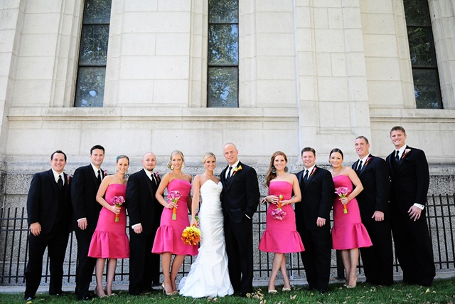Hot Pink Wedding Party