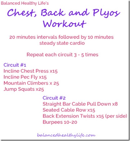 Chest, Back and Plyos Workout
