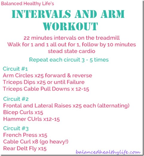 Intervals and Arms Workout